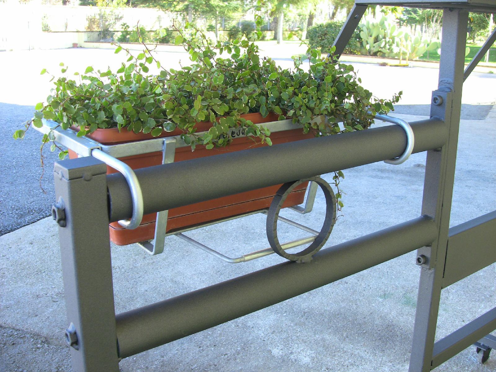 balconiera per traverse tubolari